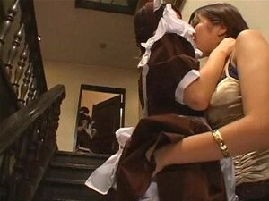 Asiática Lésbica Empregada Porn