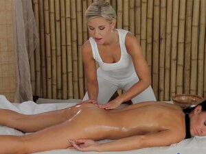 Massagens Incríveis Levam A Sexo Lesbo Fogo-chá Jul E Lola MyLuv-Lola MyLuv, Chá Jul Porn