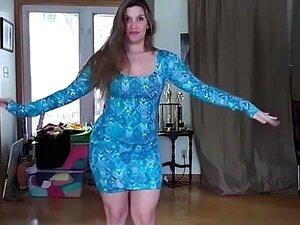 Pawg De Vestido Azul Dançando Para A Música árabe Porn