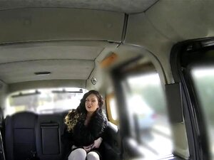Cheeky Brit Taxi Babe Pussylicked On Backseat, Cheeky Brit Taxi Babe Pussylicked On Backseat To Get Out Of Fare Porn