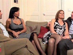 Quarteto De Swingers MILF Francês Porn