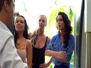 Esposas Jessica Jaymes, Phoenix Marie E Romi Chuva Foda Em Quarteto Porn