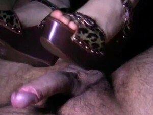Leopardo De Salto Alto Shoejob Footjob Porn