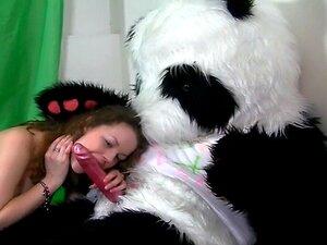 Titted Morena Sexo Com Panda Brinquedo Enorme Porn