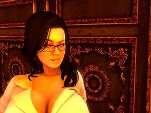 O Giry 3d Babe é Duplo Penetrado Por Dois Shemales. Porn