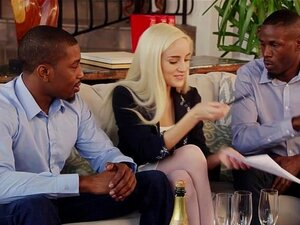 BLACKED First Interracial Threesome For Blonde Naomi Woods Porn