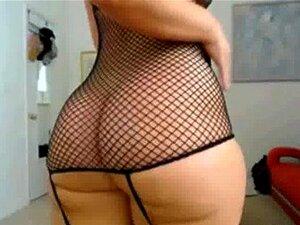 Ébano De Bunda Gorda Na Meia Arrastão Sacode Bunda No Seu Cam Porn