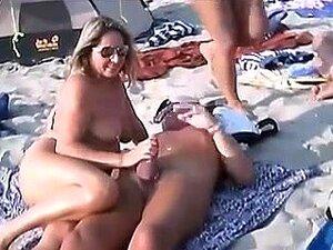 In Nature's Garb Beach-Handjobs Public With Pierced Nipps, Porn