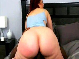 Big Booty Redhead Cowgirl Reverse Rides Interracial Porn
