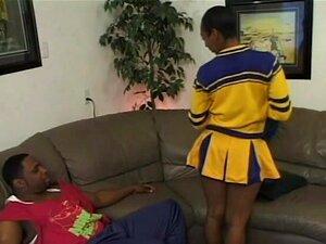 Cona Peluda Ebony Cheerleader Fodido Porn
