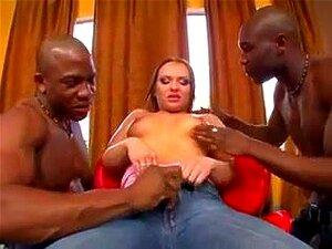 Katja Kassin Black Cock DP, Big Booty Katja A Fazer Sexo Anal Porn