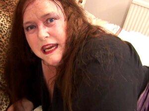 Bbw Em Látex Preto Brilhante Esfrega A Sua Cona Madura Encharcada - Debbie Porn
