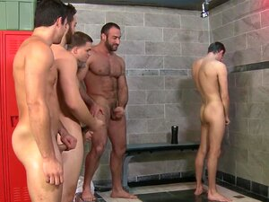 Orgy Loving Hunks Jizzing In The Shower, Orgy Loving Hunks Jizzing In The Shower After Gangbanging Young Stud Porn