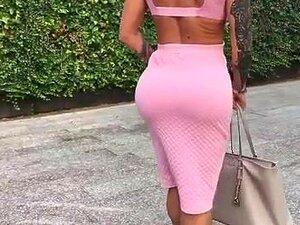 Bezerros Sexy E Rabo Redondo Perfeito De Vestido Rosa Porn