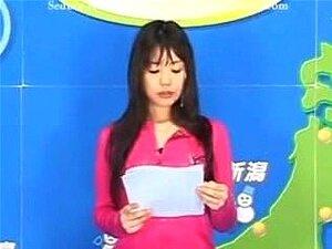 Asian Bukkake TV Meteorologista Porn
