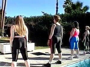 Treino De BBW Peitos Enormes E Nadar, Sundance Spa Peitos Enormes Bbw Ir Nadar Depois Que Eles Trabalham Fora Nu Porn